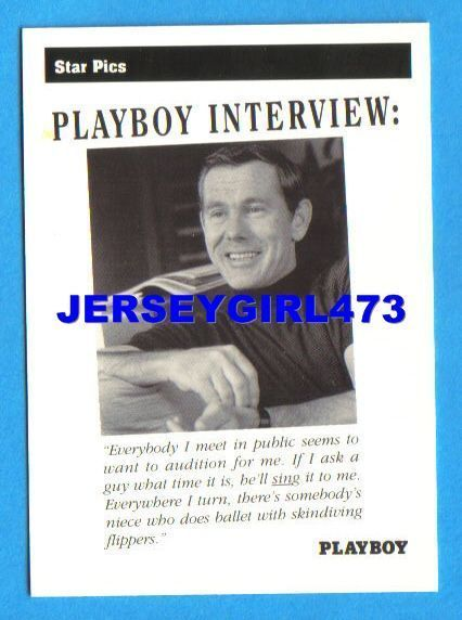 Johnny Carson 1992 Playboy Interview Card #32