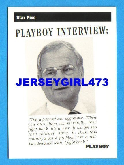 Lee Iacocca 1992 Playboy Interview Card #40