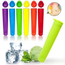 Colorful Silicone Ice Pop 6 x Popsicle Molds - $16.90