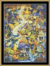Kitchen Witch 1 cross stitch chart Mystic Stitch - $14.40