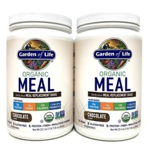 Garden Of Life Organic Meal Chocolate 1 lb Protein Powder Plant Based Set Of 2 - $54.22