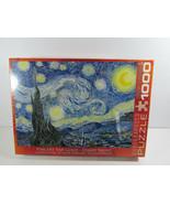 Vincent Van Gogh 1000 Pcs EuroGraphics Art Puzzle Starry Night  - $37.61