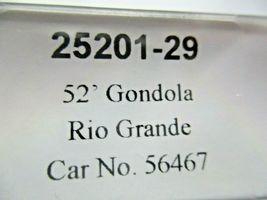 Trainworx Stock # 25201-27 to -30 Rio Grande  Black Paint Scheme 52' Gondola (N) image 8