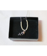 "Ladies Womens Avon Sophia Smith Yellow Rose Necklace 16"" 3""ext F3600071 ... - $29.69"