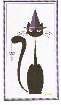Primary image for Mister Halloween Meow cat cross stitch chart Alessandra Adelaide Needlework