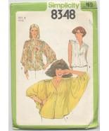 Simplicity 8348 Misses Blouse size 8 - $3.79