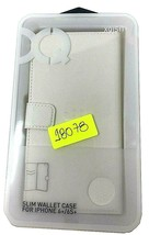 Original Slim Wallet Case For Apple IPHONE 6 Plus 6S Plus XQISIT White C... - $6.85