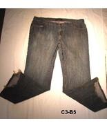 Daisy Fuentes Size 16 Distressed Stone Wash Slate Blue/Gray Denim Jeans - $16.00