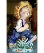 Lefton China Huck Finn figurine  - $29.00