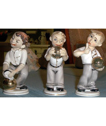 Lefton China 3 bowler figures # KW005  They're darling - $65.00