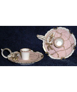 Lefton/ L' Mour China pink candle stick holders Feminine - $30.00