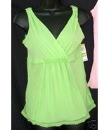 New $26 ALFANI sz Small Camisole Sleep Tank Top ivy green mesh S - $12.00