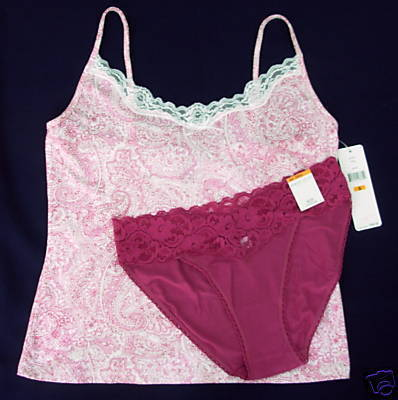 Primary image for New $44 LAUREN Camisole M Taylor Bikini Panties combo S