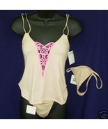 New CALVIN KLEIN sz M Cami Combo Camisole 2 G-Strings Med $58  - $20.00