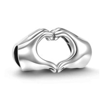925 Sterling Silver Love Heart Charm for Pandora Bracelet and Necklace - $55.42