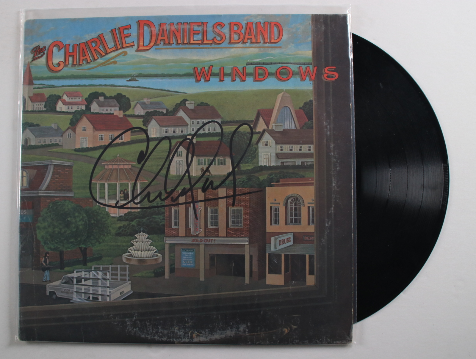 "Primary image for Charlie Daniels Signed Autographed ""Windows"" Record Album"