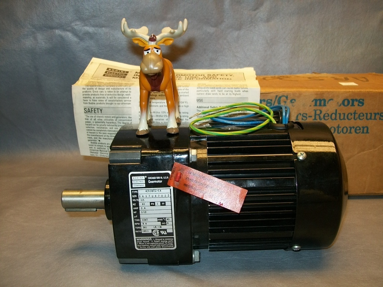 Primary image for Bodine Electric Co. 42RBFSI-E4 Gearmotor