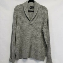 BOSS Hugo Boss Mens Slim fit XXL Cable knit Shawl Collar Sweater grey wo... - $59.00