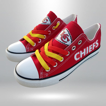 kc chiefs shoe women converse style chiefs sneakers kansas city fans gif... - $59.99