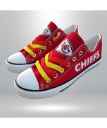 kc chiefs shoe women converse style chiefs sneakers kansas city fans gif... - $59.99+
