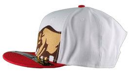 Dissizit! Side Bear White Red Brim Snapback Cap Hat California Star Flag image 5