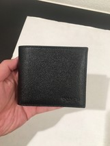 COACH  Men's Compact ID Crossgrain Leather Wallet F59112 - $64.13