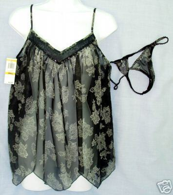 69de3879a1d9 New Sz Small Morgan Taylor Sheer Baby Doll and 50 similar items. De 1