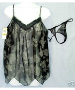 New sz small MORGAN TAYLOR sheer Baby Doll Nightgown G-String Thong S SM - $15.00