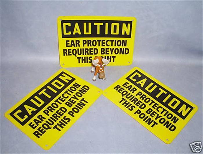 Primary image for CAUTION Ear Protection Required Safety Sign Lot of 3