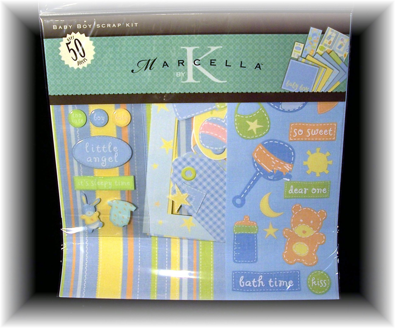 ~Baby Boy Scrapbook Kit, Marcella by K, NIP~ Over 50Pcs