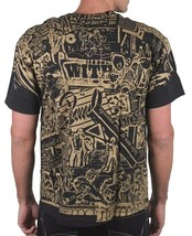 WRecords By Monkey Brooklyn Black Gold Screen Print Record LP Tee Graphic Shirt image 2