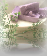 blackberry and vanilla goats milk soap sample - $2.00