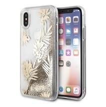 Guess  Designer Glitter Palm Spring Hard Case for iPhone X gold-transparent - $51.05