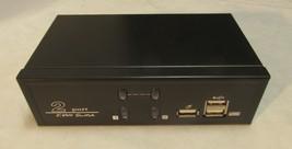 2 Port KVM Switch, Gunmetal Grey - U12412N00147S - NEW! Video, Audio, VGA - $24.26