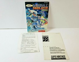 Super Baseball Simulator 1,000 - Instruction Manual Only (SNES Super Nintendo) - $10.93