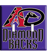 NEW ARIZONA DIAMONDBACKS MLB DOUBLE LIGHT SWITCH PLATE - $11.99