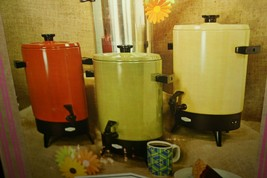 Vtg Empire 32 Cup Green Electric Percolator Coffee Maker Automatic 1000W... - $29.65