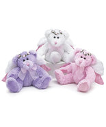 Angel Bear Plush Set of 3 Pink, White, and Lavender, burton & Burton - €31,19 EUR