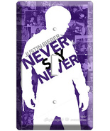 JUSTIN BIEBER NEVER SAY PURPLE SINGLE LIGHT SWITCH COVR - $8.99