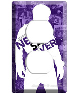 JUSTIN BIEBER NEVER SAY PURPLE OUTLET COVRER WALL PLATE - $8.99
