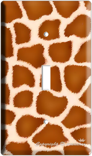 GIRAFFE PRINT KIDS ROOM DECOR SINGLE LIGHT SWITCH PLATE image 2