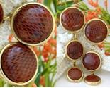 Vintage snakeskin earrings david grau spain large dangles thumb155 crop