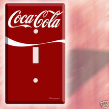NEW RED COCA-COLA SINGLE LIGHT SWITCH COVER WALL PLATE image 2