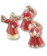 DOLLHOUSE Angel Figurines 1.894/8 Reutter Porcelain Christmas Music 1:12... - $14.50