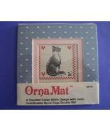 Mini Cat Ornamat cross stitch chart with double... - $6.00