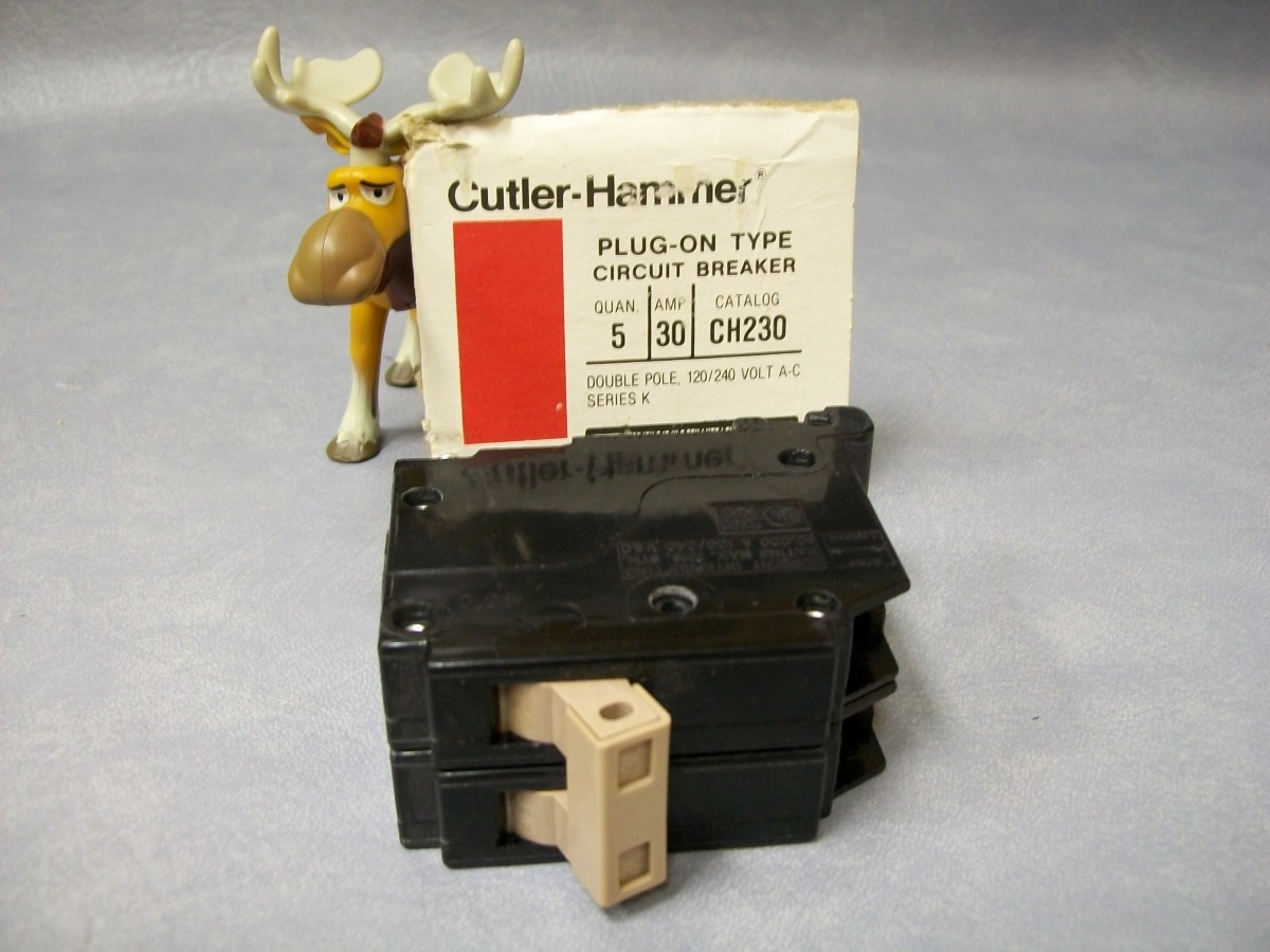 Cutler Hammer CH230 Circuit Breaker Series K 2 pole 30 and