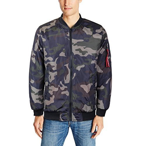 Maximos USA Men's Lightweight Water Resistant Flight Bomber Jacket Pilot (Large,