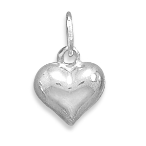 5725 puffed heart charm 12mm