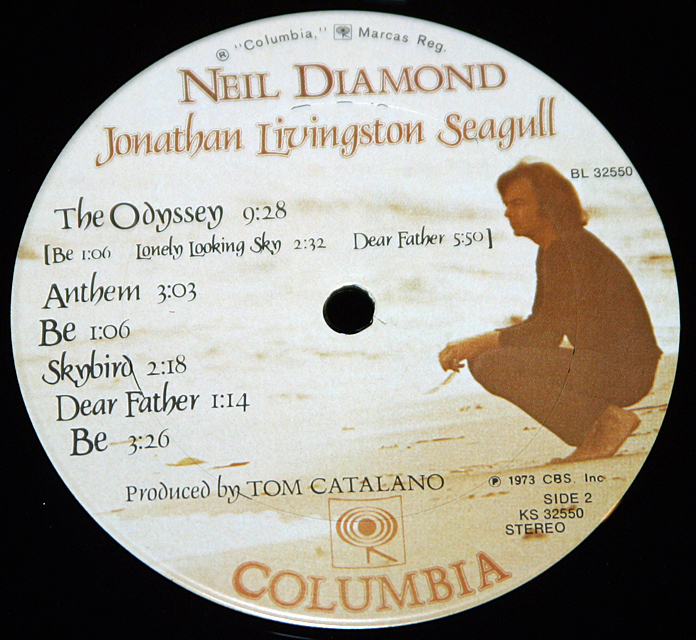 "Neil Diamond 'Jonathan Livingston Seagull""    LP"