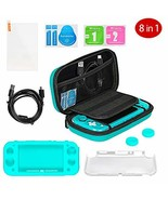 Accessories Bundle for Nintendo Switch Lite, 8 in 1 Carrying Case Turquo... - $38.36